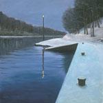 Wintermorgen am Nord-Ostseekanal bei Landwehr