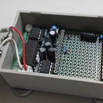 無線モジュールを外した状態の子機回路外観(左上部から撮影)