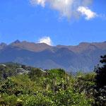 Blick auf die Zentralkordillere und den Nationalpark Los Nevados