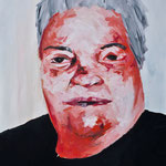 Portrait of old woman, oil on canvas, 100x70, 2012