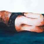 Body lying, oil on canvas, 120x70, 2012