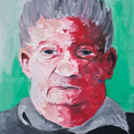 Portrait of old man, oil on canvas, 90x70, 2012