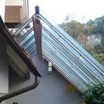 Wintergarten, Vordach, Fenster, Jalousien