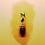 茶室D 四畳半 向掛 竹一重花入に五色椿