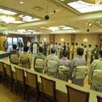 朝礼・養和会主宰 五藤宗紫先生のご挨拶から始まります。