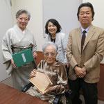 長いお付き合いである指物師の萩原貴雲先生ご夫妻も新聞広告を見て駆けつけてくださいました。