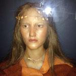 Magda, reconstitution d'un visage sur un crâne magdalénien.