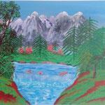 Titel: Berglandschaft