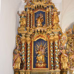 Seitenaltar Mitte 18. Jh. Peter Lagger, der Muttergottes geweiht