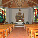 Innenansicht Pfarrkirche Bürchen