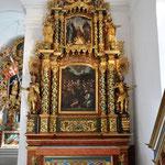 Seitenaltar: Zentrum von Meier Johann Roten gestiftetes Bild 1650