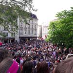 Basel - riesige Menschenmenge