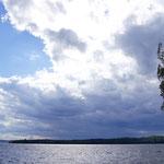 Gewitter kommt am Puula-See