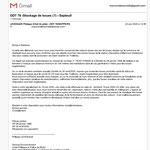 Réponse de la DDT  Mail du 22 juin 2020