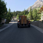 Stuhltransport für Fahrerbesprechung ACCR Hotel Post
