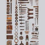 Ordnung Sammlung Schrott  130 x 200 cm