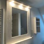 Spiegel, Regal weiß rustikal gebürstet