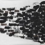 Dark Lines, 2018. Acryl-Cellulose auf Papier. 90 x 60 cm.