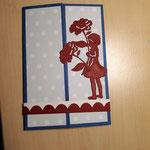 F 12 Peek A Boo- Karte - Maxi 7,00€ - mit passendem Umschlag