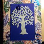 F 3 Baum auf Geschenkkarton - Sonderedition 8 Karten, 8 Lesezeichen  verkauft