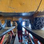 Lader 524, Hydraulik-Reparatur