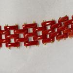 Bracciale in oro 18 kt con corallo