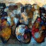 Les diplomates - 130x60 - Acrylique - 2014 (VENDUE)