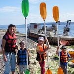 Kayak en fin de journée dans la baie d'Ancud