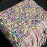 手織りマフラーピンク 約25cm×160cm ¥8000