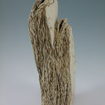"Rock Layer Vase with Double Opening, 18""x 8"" x 5"""