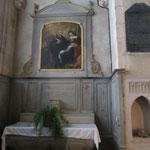 Autel surmonté du tableau représentant ST Benoît et Ste Scholastique