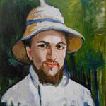Copie Portrait de Gustave Caillebotte 37x46 huile sur Toile  2016