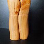 Pfeffermühlen Set Eibe Holz Unikat Einzelstück Gewürzmühle handarbeit design