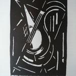 Le Coultre, La Mandoline, lino, vers 1953.