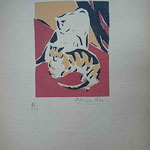 Bas, Les chats, pochoir, Album Ziniar, 1921