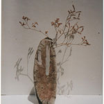 Ikebana - Grès cuisson Raku - Sylvie Ruiz Foucher