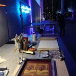 mobile Druckstation in der Pinakothek der Moderne