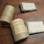 richtige alte Buchbindergarne und feine Sacknadeln