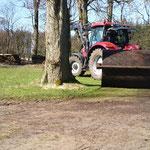 Der Rasen wird platt gemacht