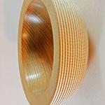 Schale: Esche, 23,5 x 9 cm, Einlassung: Gesso / Preis: 350,00 €