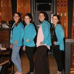 ehemaliger Vorstand (von l. n. r.): Stefanie, Nicole, Sima und Sandy