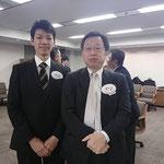 新旧関西選手権個人優勝者 4回生松瀬さんと昭和60年卒蓮井さん