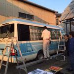狭山ゴルフ・クラブ 第81回日本オープンゴルフラッピング施工中の様子