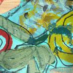 ohne Titel /  Acryl auf Papier /  25x25