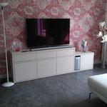 Meuble TV sur mesure panneau médium laqué