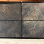 Marmorino KS in zwart en brons effect met stencils