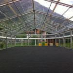 Teppich verlegen ACCR-Zelt