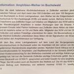 Bericht NVM über Amphibienweiher Buchsiwald, 1. Teil