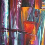 230 Mistique, Acryl auf Leinwand,  Karin Lesser-Köck, 40 x 40 cm