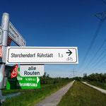 Wir radeln zum Storchendorf